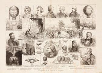 Illustrations of the centenary of ballooning  1883.