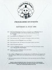 'Happy Birthday Thomas'  NRM poster  21 July 1990.