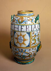 Italian pharmacy jar  1641.