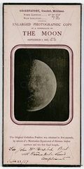 Enlarged Photographic Copy of a Photograph of the Moon'  1857.
