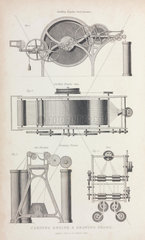 Carding engine and drawing frame  1835.