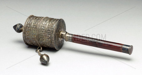 Buddhist prayer wheel  Tibetan  18th or 19th century.