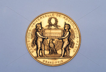 Gold medal  1867.