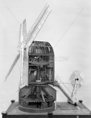 Working model of Sprowston post-windmill  1780 to 1934.
