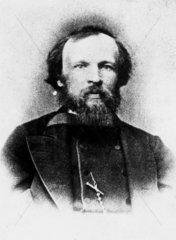 Dmitry Ivanovich Mendeleyev  Russian chemist  c 1870s.
