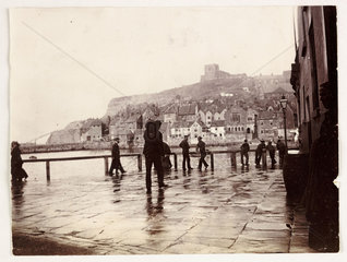 Whitby Harbour  c 1905.