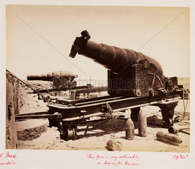 Damaged artillery  Fort Mex  Alexandria Harbour  Egypt  12 November 1882.