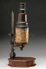 Cuff-type microscope  early 18th century.