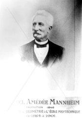 Amedee Mannheim  French mathematician  c 1901.