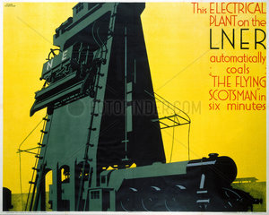 Refuelling the 'Flying Scotsman'  LNER poster  1932.
