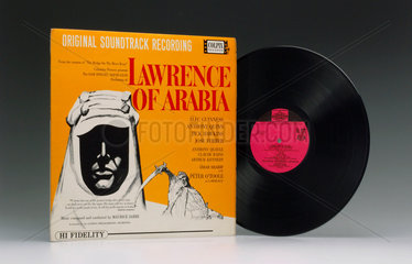 Soundtrack from the film 'Lawrence of Arabia' on an LP  1963..