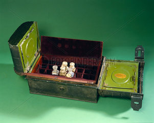Medicine chest belonging to Henry Morton Stanley  late 19th century.