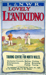 'Lovely Llandudno'  L&NWR poster  c 1910.
