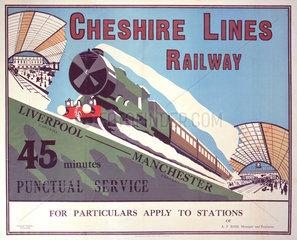 'Cheshire Lines Railway'  Cheshire Lines Railway poster  c 1925.