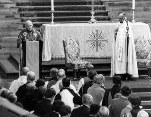 Pope John Paul II and the Archbishop of Canterbury  1982.
