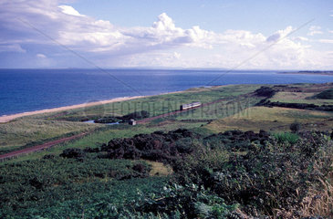 ScotRail service train travelling south to Brora  Highlands  1999