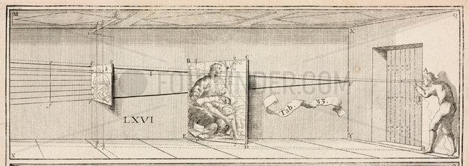 Diagram in 'La Perspective curieuse'  1638.