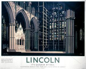 'Lincoln: Angel Choir'  LNER poster  1923-1947.