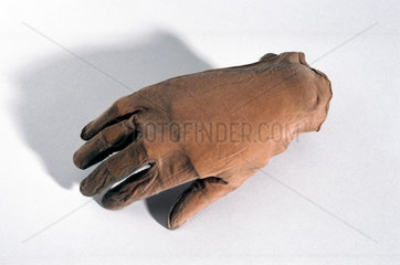 Silk inner glove  c 1932-1933.