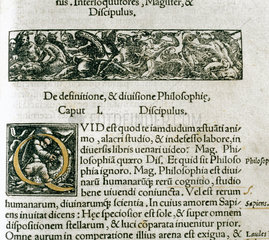 Page from the 'Margarita Philosophica'  1535.