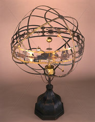 Large orrery with eight-day clock by Charles Butcher  1733.