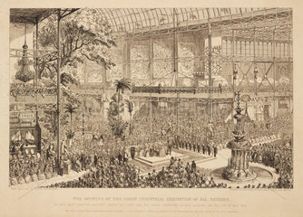'The Opening of the Great Industrial Exhibition of All Nations'  1851.