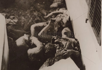 Family burned to death  Tiberias  1939.
