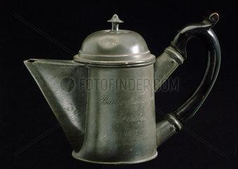 Pewter teapot  c 1805.