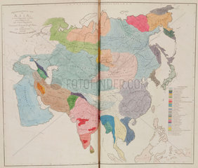 'Ethnographical Map of Asia  in the Earliest Times'  1843.