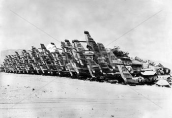 American fighter planes discarded in the desert  USA  7 October 1963.