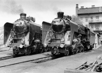 MAV steam locomotive  Budapest  1929.