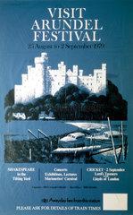 'Visit Arundel Festival'  BR(SR) poster  1979.