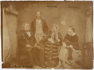 Robert Stephenson  English mechanical and civil engineer  and family  c 1850s.
