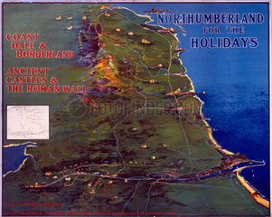'Northumberland for the Holidays'  NER poster  1920.