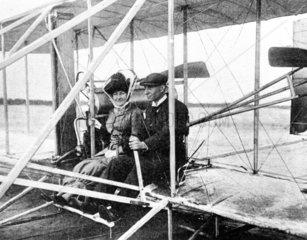 Madame Hart Berg and American aviator Wilbur Wright  c 1910.