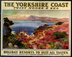 'The Yorkshire Coast'  NER poster  1900-1922.