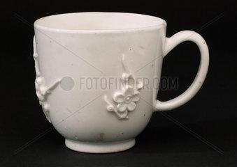 White porcelain cup  c 1748-1763.