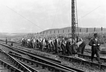 Track renewal in progress  Fife  1948-1949.