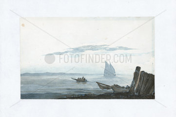 Light cumulus and stratus above a sea inlet  1803-1811.