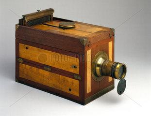 Chevalier 'Le Grand Photographe' folding camera  c 1840.