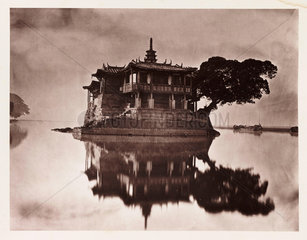 'The Island Pagoda'  China  c 1871.