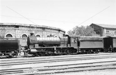 Steam locomotive  Izmir  Turkey  1957.