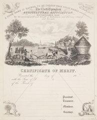 Certificate of merit  North Erpingham  1834.