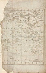 Map of Cook's voyages  c 1780.