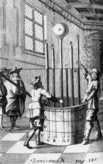 Torricelli's barometer experiment  1644.