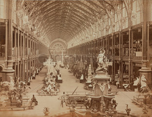 Interior view of the International Exhibition  London  1862.