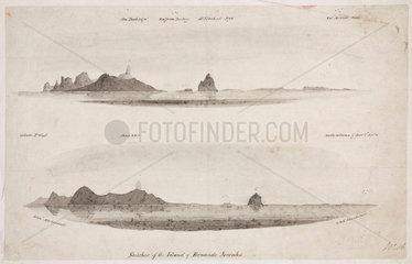 'Sketches of the Island of Fernando Noronha'  South Atlantic  1828-1831.
