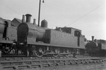 Ex-Barry Rly 0-6-2T locomotive  GWR No 252  1934.