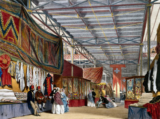 Tunisian No 2 stand at the Great Exhibition  Crystal Palace  London  1851.