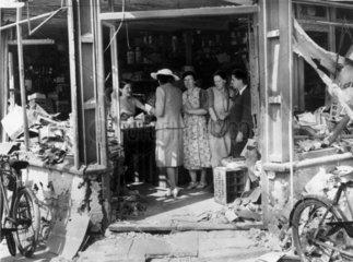 Bomb-damaged shop  Second World War  18 August 1940.